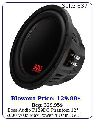 boss audio pdc phantom  watt max power ohm dvc car audio subwoofe