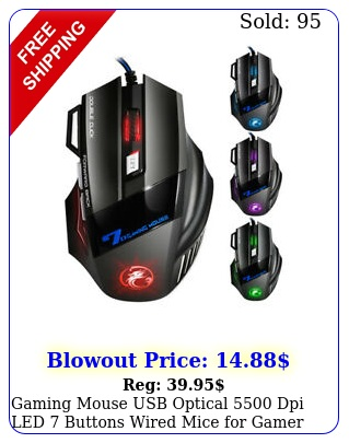 gaming mouse usb optical dpi led buttons wired mice gamer compute
