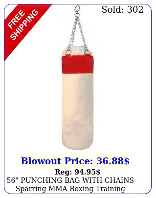 punching bag with chains sparring mma boxing training canvas heavy duty re