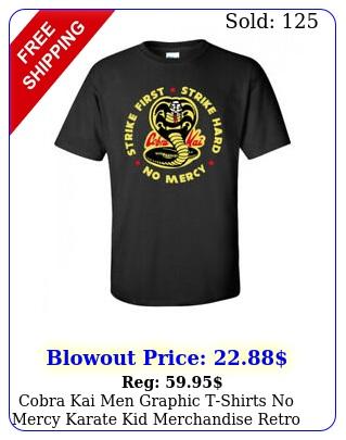 cobra kai men graphic tshirts no mercy karate kid merchandise retro tops tee