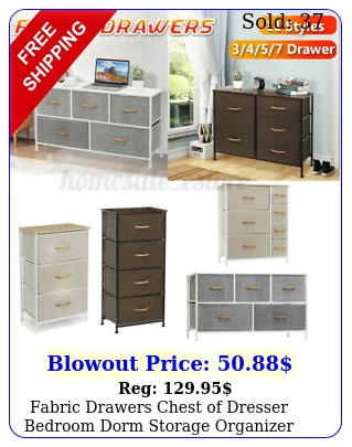 fabric drawers chest of dresser bedroom dorm storage organizer home furniture u