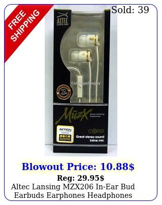 altec lansing mzx inear bud earbuds earphones headphones wmic headset whit