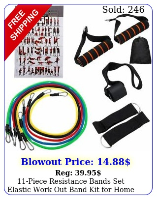 piece resistance bands set elastic work out band kit home fitnes