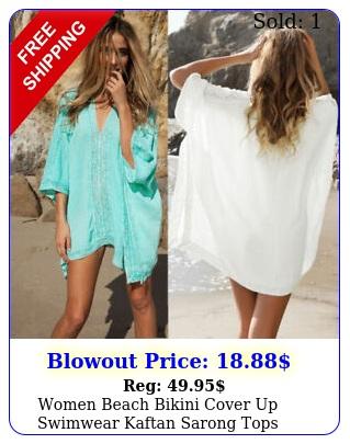 women beach bikini cover up swimwear kaftan sarong tops summer casual mini dres