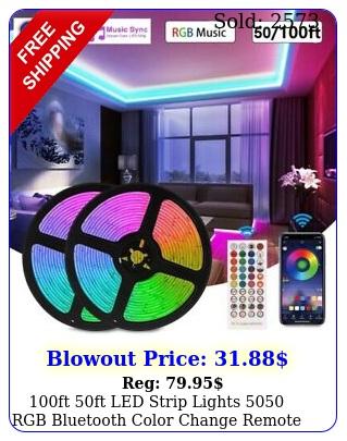 ft ft led strip lights rgb bluetooth color change remote rooms ba