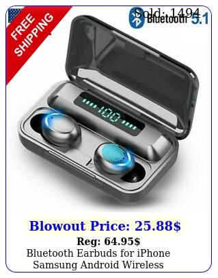 bluetooth earbuds iphone samsung android wireless earphones waterproof