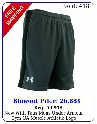 with tags mens under armour gym ua muscle athletic logo heatgear short