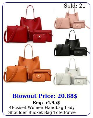 pcsset women handbag lady shoulder bucket bag tote purs
