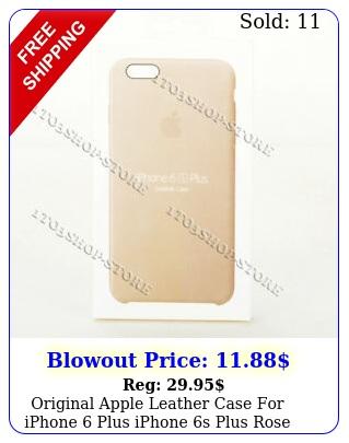 original apple leather case iphone plus iphone s plus rose gray mkxezm