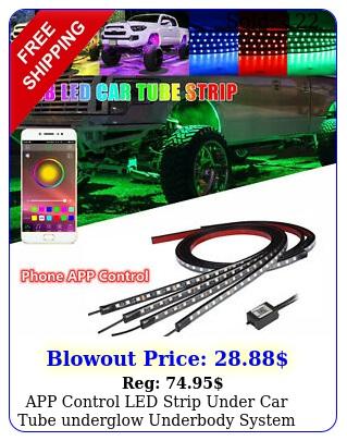app control led strip under car tube underglow underbody system neon lights ki