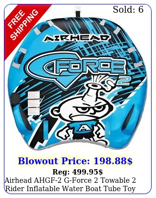 airhead ahgf gforce towable rider inflatable water boat tube to