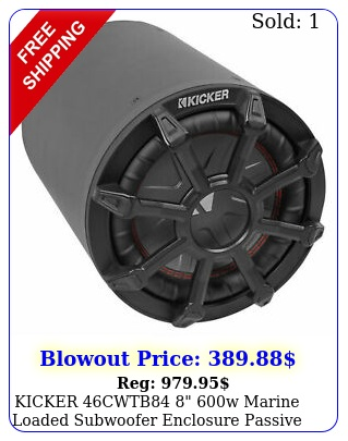 kicker cwtb w marine loaded subwoofer enclosure passive radiator t