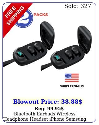 bluetooth earbuds wireless headphone headset iphone samsung android waterproo