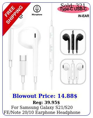 samsung galaxy ss fenote earphone headphone earbuds usbc type