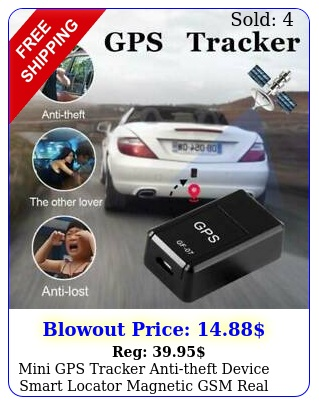 mini gps tracker antitheft device smart locator magnetic gsm real time trackin