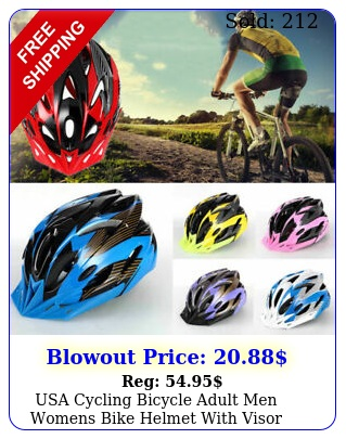 usa cycling bicycle adult men womens bike helmet with visor mountain shockproo