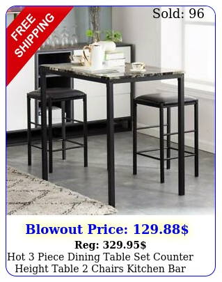hot piece dining table set counter height table chairs kitchen bar stools u
