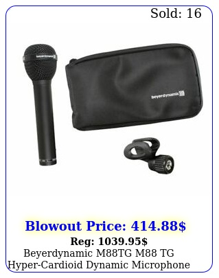 beyerdynamic mtg m tg hypercardioid dynamic microphone mic w clamp ba