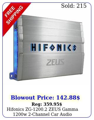 hifonics zg zeus gamma w channel car audio amplifier class ab am