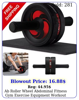 ab roller wheel abdominal fitness gym exercise equipment workout training w pa
