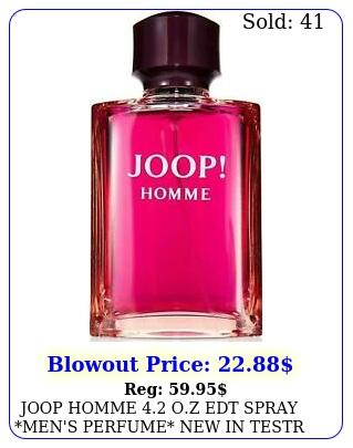 joop homme oz edt spray men's perfume in testr bo