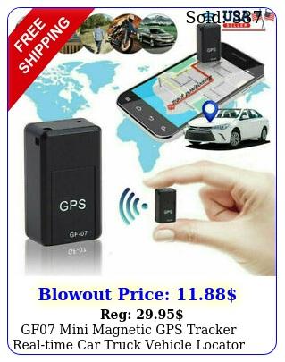 gf mini magnetic gps tracker realtime car truck vehicle locator gsm gprs u