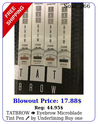 tatbrow eyebrow microblade tint pen by underlining buy one get two fre