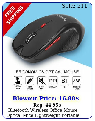 bluetooth wireless office mouse optical mice lightweight portable pc lapto