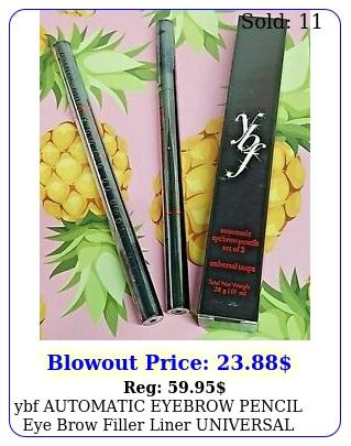 ybf automatic eyebrow pencil eye brow filler liner universal taupe set of ne