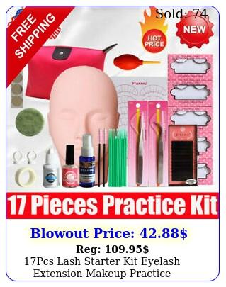 pcs lash starter kit eyelash extension makeup practice mannequin training hea