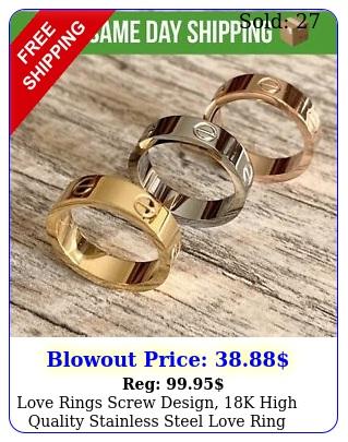 love rings screw design k high quality stainless steel love rin