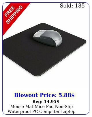 mouse mat mice pad nonslip waterproof pc computer laptop office desk mousepa