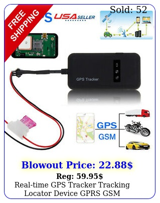 realtime gps tracker tracking locator device gprs gsm carmotorcycle anti thef