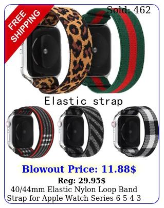 mm elastic nylon loop band strap apple watch series   iwatch s