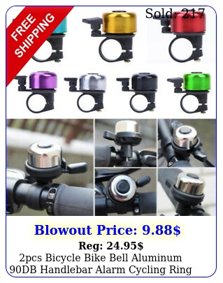pcs bicycle bike bell aluminum db handlebar alarm cycling ring bell safet