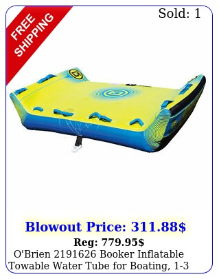 o'brien booker inflatable towable water tube boating rider