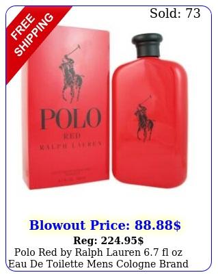 polo red by ralph lauren fl oz eau de toilette mens cologne brand seale