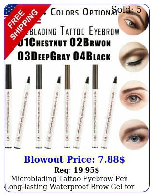 microblading tattoo eyebrow pen longlasting waterproof brow gel eyes makeu