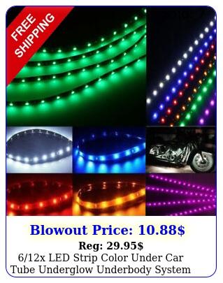 x led strip color under car tube underglow underbody system neon lights ki