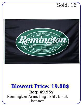 remington arms flag xft black banne