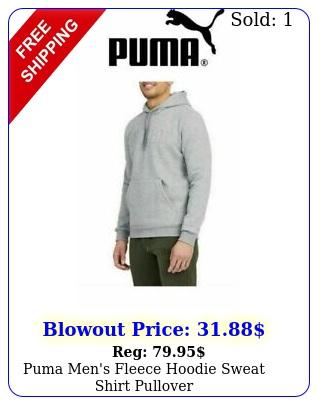 puma men's fleece hoodie sweat shirt pullove