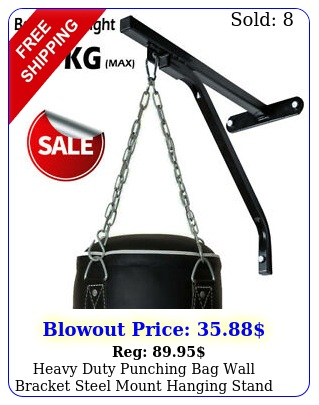 heavy duty punching bag wall bracket steel mount hanging stand boxing mma blac