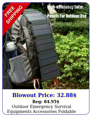 outdoor emergency survival equipments accessories foldable solar charger campin