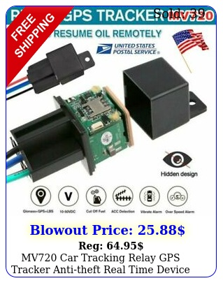 mv car tracking relay gps tracker antitheft real time device gsm locator r