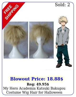 my hero academia katsuki bakugou costume wig hair halloween cosplay gol