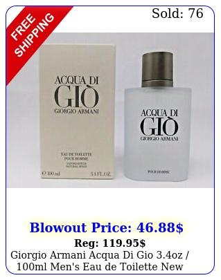 giorgio armani acqua di gio oz ml men's eau de toilett
