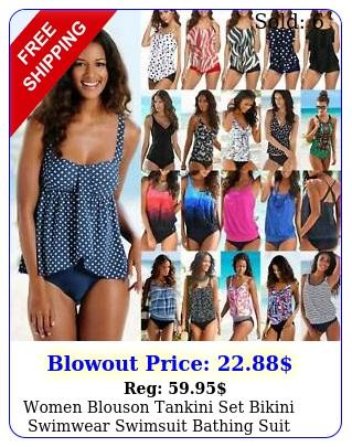 women blouson tankini set bikini swimwear swimsuit bathing suit swimming costum