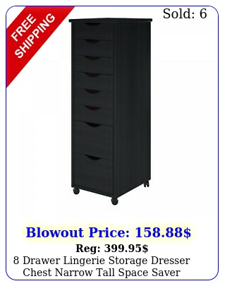 drawer lingerie storage dresser chest narrow tall space saver cabinet cart bl