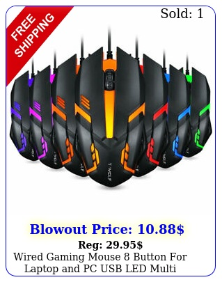 wired gaming mouse button laptop pc usb led multi lighting dp