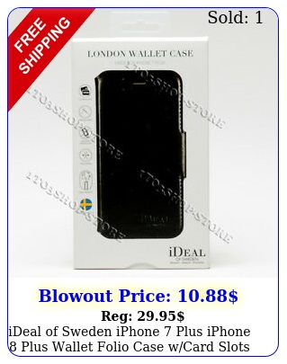 ideal of sweden iphone plus iphone plus wallet folio case wcard slots blac